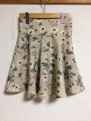 abc une face 花柄フレアスカート