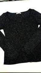 黒×ラメ★長袖ニット★Mサイズ〜美品(*^^*)
