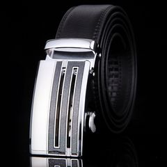 オートロック式 本革高級ベルト 110cm〜125cm 長さ選択 24