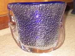 未使用☆花器「尾上」花瓶*置物*インテリア(ブルー系)