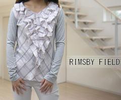 新品RIMSBY FIELDフリル異素材カットソーロンT長袖Tシャツ