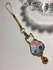 ★和 金魚と桜 猫のレジンストラップ 水風船 ねこ さくら ネコ