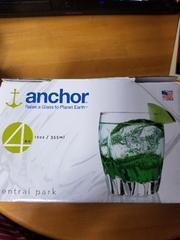 anchorグラス2個セット 他コップ6個セット