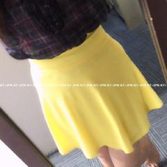 「新品」 爽やかな色合い フレアスカート ♪