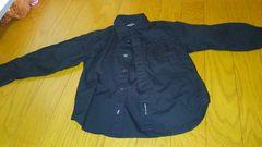 コムサイズム ワイシャツ黒 子供用100cm