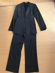 HIS MISS ヒズミス★パンツスーツ ジャケット ストライプ 黒 9号