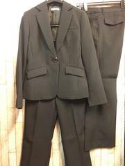 新品☆11号♪黒のストライプの!2パンツスーツ☆n258