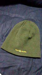 PEACE☆PROJECT. ニット帽 GREEN×ORANGE