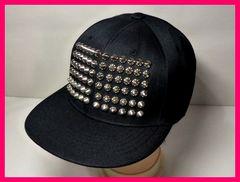 キャップ帽子 70個以上のスタッズの迫力! ロック系・B系
