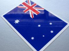 1■オーストラリア国旗ステッカー☆1枚即買☆スーツケースなどに