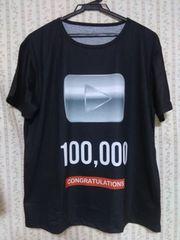 再生ボタンTシャツ 100,000
