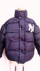 MAJOR LEAGUE BASEBALLNY・ニューヨークヤンキースロゴ&ナイロンダウンジャケット