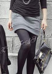 *【3L】大きいサイズ*裏起毛厚手スカート灰グレー即決