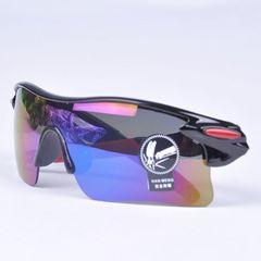 スポーツサングラス サングラス UV400 紫外線カット ブラック