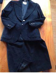 黒色 レディー ス葬禮結婚式上下 スカートスーツ サイズM 9