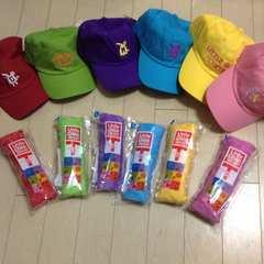 即決ラウンドワンROUND1リトグリ帽子&Tシャツ全種類セット