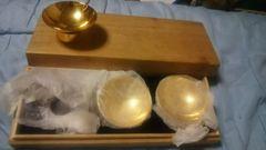 金盃(さかずき)3個入り♪木箱付き