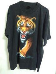 ロックイーグル タイガー柄Tシャツ 約2X