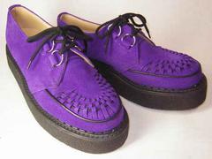 ジョージコックスGeorgeCox新品3588パープル スエード靴uk7