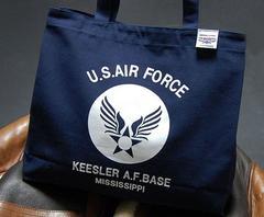 USAFエアフォース肩がけトートーバッグ紺・新品/ネイビー
