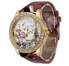 ROSE BUTTERFLY ライトストーン 腕時計 クォーツ腕時計