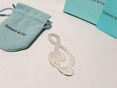 正規限定 Tiffany & Co ティファニー 音符 アーティストマネークリップ SV925 財布