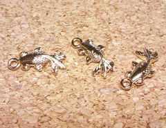 金魚チャーム平3個マットゴールド