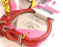 送円~07kg10kg赤牛皮革丸首輪TO-31Red#2枚縫いロールレッド25~32cmDog