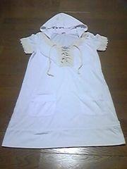 Tシャツ/半袖/フード付/白/M/まとめ買い歓迎