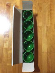 304.新品☆小さいコップ  緑5個