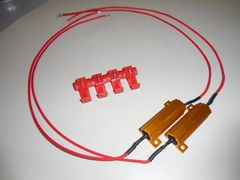 送料無料!12V/50W6Ωハイフラ防止抵抗2個LEDウィンカー