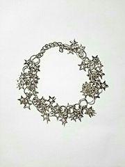 新品 ブレスレット 星キラキラ シルバー アクセサリー 銀