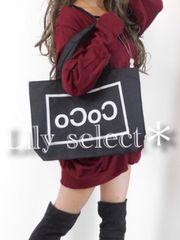 new://大人気完売◆black*めちゃ可愛CoCoプリントBAG 0886
