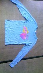 青の長袖シャツ150