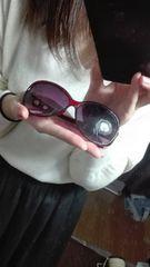 フレーム有◆レッドサングラス◆でかレンズ