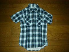 DELAYwin&sonsガーゼ調チェックシャツ2青系ウィンアンドサンズ
