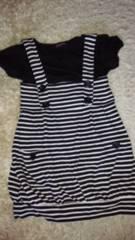 Tシャツ×ボーダーワンピセット(●´∀`●)150