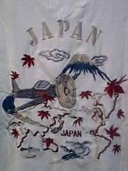 ヒューストン社ゼロ戦富士山ロンT刺繍