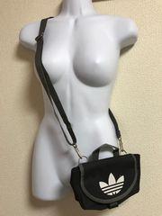 ★adidas 黒×ミニショルダー ウエストバッグ★