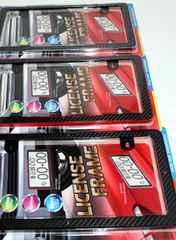 3色 ナンバープレートフレーム ライセンスプレート カバー
