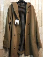 新品☆3L肌寒いときに!カットソー素材ジャケットコートs133