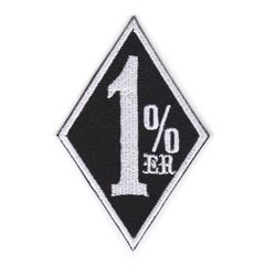 1%er(ワンパーセンター)■ワッペン■黒白#wpr002