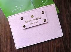 新品kate Spade☆ベビーピンク レザー 名刺入れ/カードケース ケイトスペード