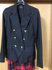 新品☆hiromichi nakano☆黒ジャケット&赤チェックスカート160