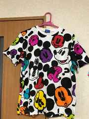 東京ディズニーランド購入 総柄ミッキー半袖Tシャツ M