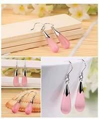 満点評価490円★超人気 綺麗で可愛い薄ピンクのピアス