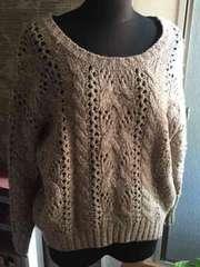 INGNI  薄茶色の カジュアルなセーター