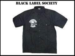 ブラックレーベルソサエチーBLACKLABEL SOCIETYワークシャツ新品パンクメタルスケート1点物