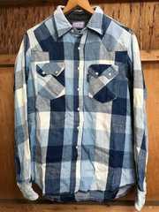 blueblue ハリウッドランチマーケットインディゴチェックシャツ