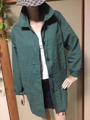 大きいサイズ*シンプルグリーン薄手コート*カジュアルジャケット